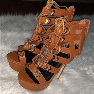 Shoe Dazzle Shoes - Brown heels